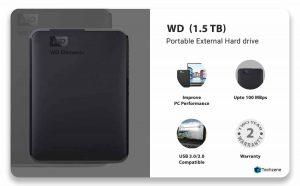 Western Digital Elements 1.5 TB Portable External Hard Drive