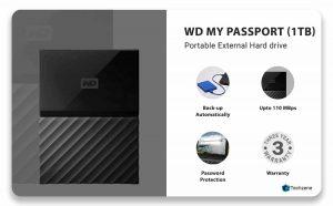 Western Digital 1TB Portable External Hard Drive