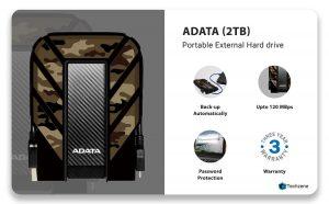 ADATA HD710M Pro 2TB Military-Grade Shockproof External Hard Drive