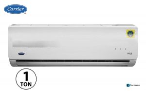 Carrier 1 Ton 3 Star Split AC (Copper, CAS12EK3R39F0+CF123R3CC90, White)