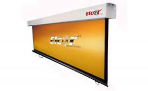 ELCOR Manual Wall Spring Action Projector Screen