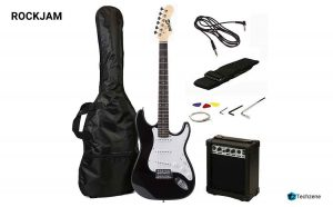 RockJam RJEG02-SK-BK Electric Guitar Starter Kit