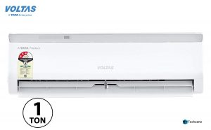 Voltas 1 Ton 3 Star Split AC (Copper, 123 CZA, White)