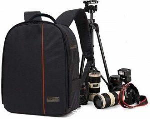 SMILEDRIVE® Waterproof DSLR Backpack Camera Bag