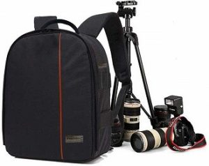 SMILEDRIVE® Waterproof DSLR Backpack Camera Bag